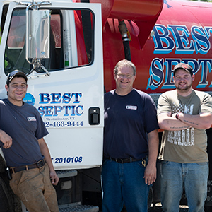 Best Septic truck with owner and workers