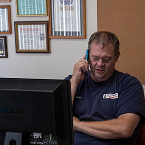 best septic owner Jeff on the phone