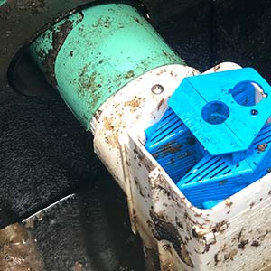 A tool using to clean out a pipe