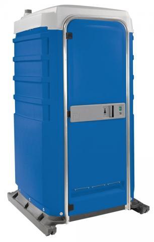 flushable portable toilet unit