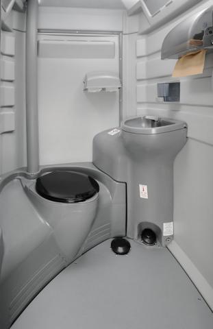 inside of a flushable toilet unit
